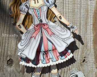 Lolita Paper Doll - Articulated Paper Doll (already cut and assembled)