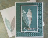 Handmade Birthday Card, Stampin Up Four Feathers & Washi Tape
