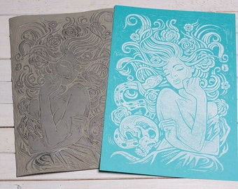 Little Briar Rose - Block Print