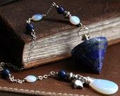 Lapis Lazuli Pendulum. Opalite Pendulum. Gemstone Pendulum. Star Pendulum. Divination Pendulum. Dowsing Tool. New Age Healing Pendulum.