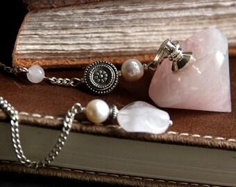 Rose Quartz Pendulum. Pink Pendulum. Dowsing Pendulum. Metaphysical New Age Divination Tool. Healing Gemstone Pendulum.