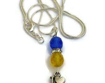 Milwaukee Brewers Inspired Necklace, Old School Colors, Gifts for Women Mom Wife Sister Daughter Grandma Teacher Under 25, Stocking Stuffers