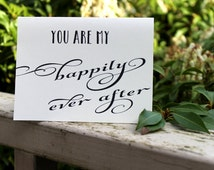 Valentines Day Card, You are my happily ever after To My Groom Card DIY Printable, Wedding Day Anniversary,Fiance Card, Engagement Card