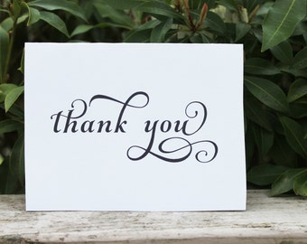 Wedding Thank You Cards Printable Cards PDF Thank you Notes