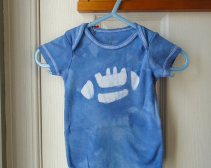 Football Baby Bodysuit, Baby Football Bodysuit, Blue Football Baby Gift, Football Baby Shirt, Football Baby Shower Gift (3 months) SALE