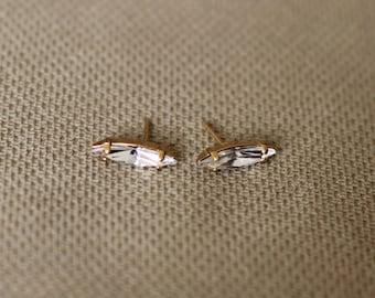 Aria Crystal Earrings, Bridal Stud Earrings,  Embedded Swarovski Crystals, Bridal Jewellery, Wedding Earrings, Crystal Earrings for Brides