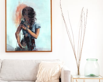 To Pieces .  extra large wall art . giclee print