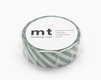 Stripe Cobalt Green Tape, mt DECO, Japanese mt Washi Paper Masking Tape, Collage, Adhesive Tape, Cute Scrapbook, Card Decoration, MT01D243