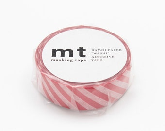Stripe Vermilion Red Tape, mt DECO, Adhesive Tape, Japanese mt Washi Paper Masking Tape, Collage, Wrapping, Scrapbook, Journal, MT01D245