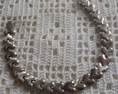 Vintage Bracelet Heart Links Needs Clasp