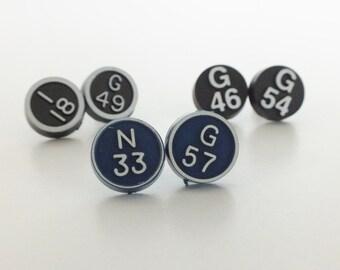 Vintage Bingo Earrings