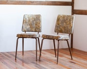 SALE /// Mid-Century Abstract Expressionist Vinyl Chairs