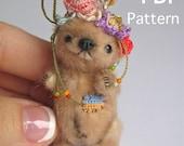 Micro miniature bear e-PATTERN PDF Pauline by Tatiana Scalozub
