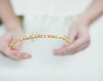 Delicate Blossoms Headband - Full Style - Simple Floral Headband, Crown, Headpiece