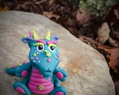 Polymer Clay Dragon 'Amore' - Limited Edition Handmade Collectible