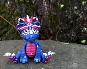 Polymer Clay Dragon 'Indigo' - Limited Edition Handmade Collectible