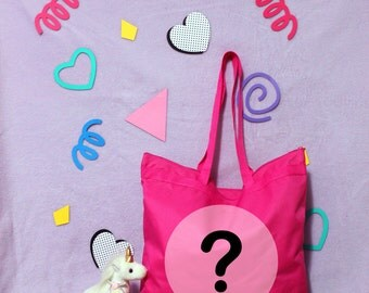 Fairy Kei - Harajuku 80s Pop Disco Mystery Bag Lucky Dip Tote Bag - Choose A Size FUKUBUKURO