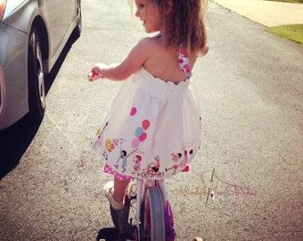 Girl's Halter Tunic Swing Top Michael Miller Children On Parade