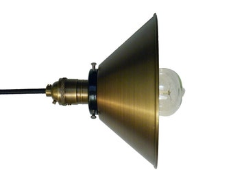 Pendant Light Shade Antique Mix and Match Any Hardware Copper Chrome Black Sockets Ceiling Industrial Light Fixture