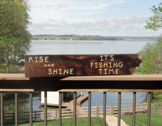 Rustic Fishing Sign Lake House/Beach Decor By