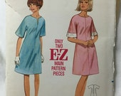 Butterick 3992 Kimono Sleeve Easy A-Line Dress Vintage Sewing Pattern Bust 34