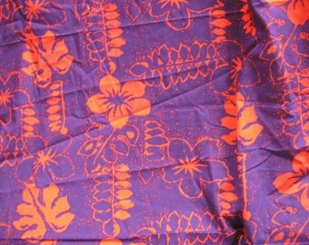 Red and Purple Batik Hawaiian Cotton Bold Fabric Yardage