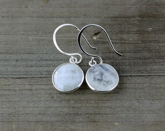 Moonstone Earrings on Sterling Silver