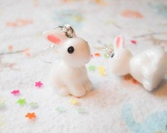 Bunny Earrings, Rabbit Earrings, Kawaii Earrings, Sweet Lolita, Cute Earrings, Kawaii Kei, Pop Kei, Harajuku, Girls Gift, Animal Earrings