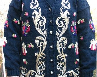 Tacky Sweater, tacky christmas sweater, tacky holiday sweater, ugly sweater, ugly christmas sweater, black sweater, holiday sweater, gifts,