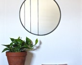 "Large Circle Mirror Handmade Leaded Wall Mirror Round Mirror Oval 18"" Diameter Modern Wall Mirror"