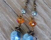 Vintage Beaded Drop Earrings