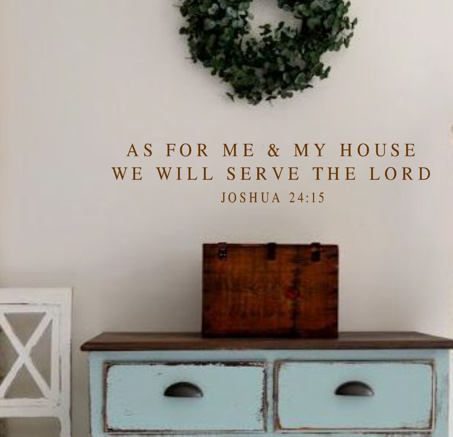 vinyl wall decal as for me and my house joshua 24 15 bible