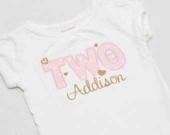 Personalized Birthday shirt - Applique