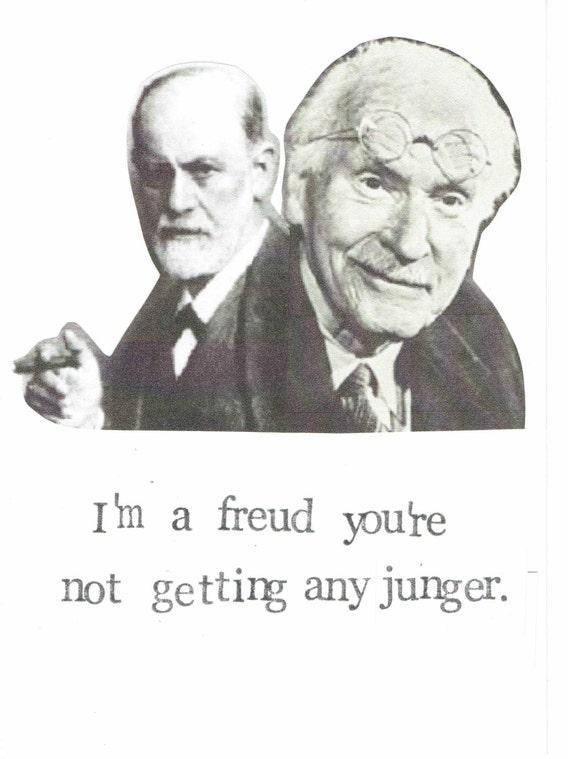 Freud Jung Birthday Card Funny Psychology Happy Birthday – History of Birthday Cards