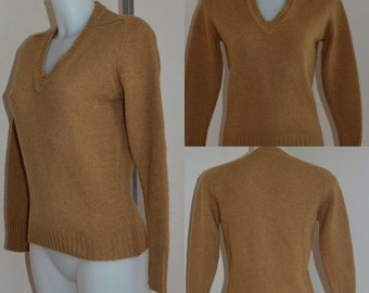 Vintage Sweater, 1950s Sweater, Vintage 1950s Sweater, Camel Hair Sweater, Tan Sweater, Ladies Sweater, Casual, Glenorchie