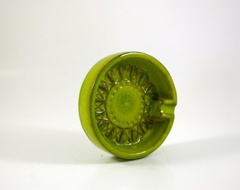 Modernist Bitossi for Raymor Catch All or Ashtray -- Made in Italy -- Spring Green