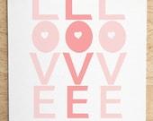 Love You - Custom Color - 8x10