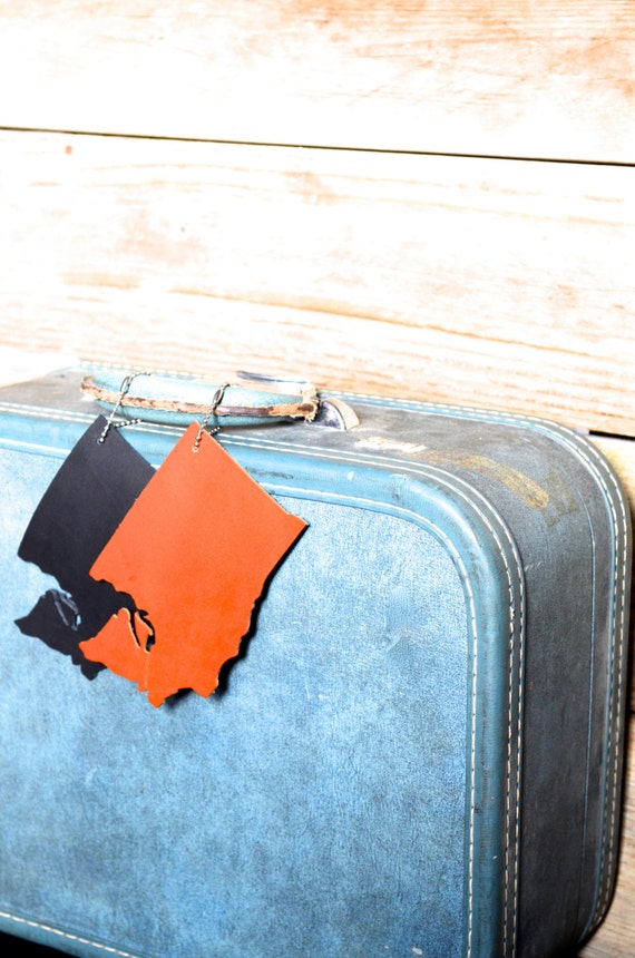 Washington Silhouette Luggage Tag