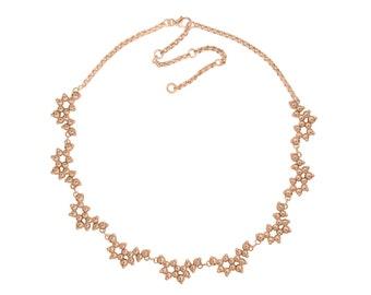 Serotonin Necklace in Rose or Yellow Gold Vermeil - Molecule Jewellery