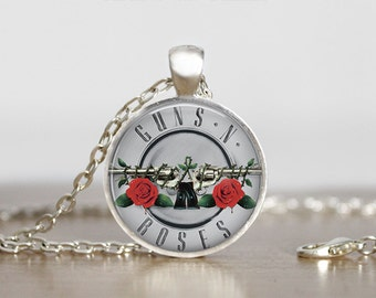 Guns and Roses Jewelry Pendant