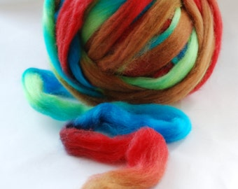 SPACE Pencil Roving  - SPRING - CHUNKY knitting wool yarn 24 mic  - co.no. 3133 multicoloured
