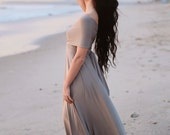 Oyster Shell Taupe- Silky Satin Jersey-Octopus Convertible Infinity Wrap Dress