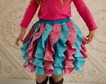 Fancy Flounce Skirt 6m-12years -  PDF Pattern - By LittleKiwisCloset