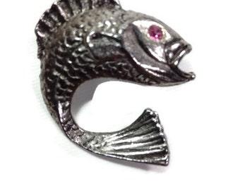 Fish Bolo Tie Slide