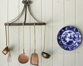 RESERVED for Kristen      -                    Antique Iron Hanging Shelf or Rack  Sale was 68.00