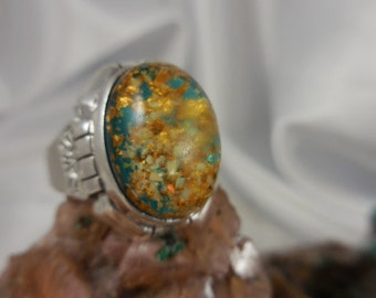 Dichroic Glass Sterling Ring