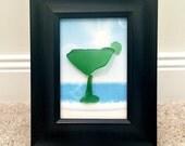 Margarita Sea Glass Art - It's 5 O'Clock Somewhere - Beach House Decor - Beach Wall Art - Nautical Wall Art- Vero Beach Florida - OOAK
