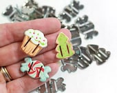 12 Christmas Candy Scrapbook Ribbon Brads perfect for card making, scrapbook embellishments or crafting projects