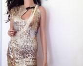 Party Dress Gold Sequin Apocalypse Short Dress CHRISST