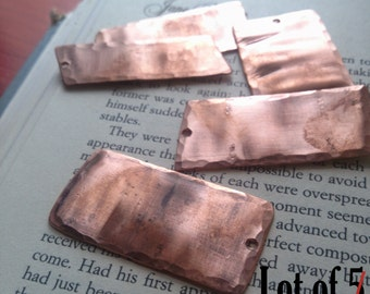 Lot of Rectangular Copper Stamping Blanks (10) ~ Metal Stamping Blanks ~ Stamp Blank~ Recycled Metal Blanks ~ Upcycled Jewelry Findings